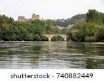 river dordogne and the village... | Shutterstock . vector #740882449