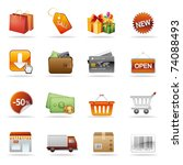 shopping and consumerism icon... | Shutterstock .eps vector #74088493