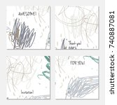 hand drawn creative universal...   Shutterstock .eps vector #740887081