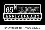 65th anniversary logo. vector... | Shutterstock .eps vector #740888317