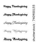 thanksgiving typography. vector ... | Shutterstock .eps vector #740900155