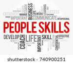 people skills word cloud... | Shutterstock .eps vector #740900251