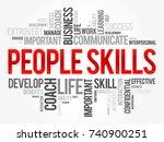 people skills word cloud... | Shutterstock .eps vector #740900251