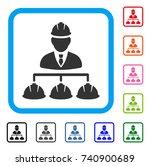 builder management icon. flat...
