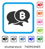 bitcoin webinar icon. flat gray ... | Shutterstock .eps vector #740903485