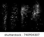 broken glass particles falling... | Shutterstock . vector #740904307
