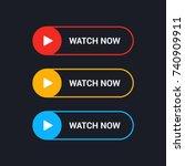 watch now flat line vector... | Shutterstock .eps vector #740909911