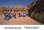 tourists waiting to enter in... | Shutterstock . vector #740914837