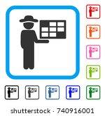 agent schedule icon. flat grey... | Shutterstock .eps vector #740916001