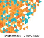 abstract colorful vector... | Shutterstock .eps vector #740924839
