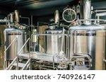 craft beer brewing equipment in ... | Shutterstock . vector #740926147