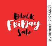 black friday sale minimalistic... | Shutterstock .eps vector #740932174