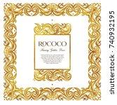 vector vintage square frames ... | Shutterstock .eps vector #740932195