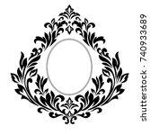 vector baroque ornament in... | Shutterstock .eps vector #740933689