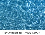 shining blue water ripple... | Shutterstock . vector #740942974