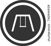 swing icon   dark round sign... | Shutterstock .eps vector #740944939