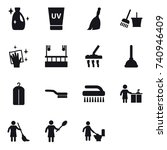 16 vector icon set   cleanser ... | Shutterstock .eps vector #740946409