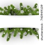 white new year background with... | Shutterstock .eps vector #740949109
