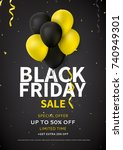 flyer design for black friday... | Shutterstock .eps vector #740949301