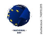 banner or poster of europe...   Shutterstock .eps vector #740951395