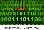 sap is written with red letters ... | Shutterstock . vector #740952961