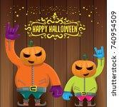 vector happy halloween creative ...   Shutterstock .eps vector #740954509