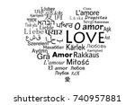 the word love for the most... | Shutterstock .eps vector #740957881