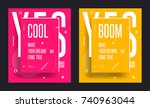 set of abstract bright acid... | Shutterstock .eps vector #740963044