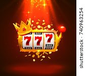 king slots 777 banner casino on ... | Shutterstock .eps vector #740963254