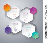 infographics design vector and... | Shutterstock .eps vector #740967421