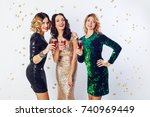 party and holidays concept.... | Shutterstock . vector #740969449