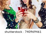 party and holidays concept.... | Shutterstock . vector #740969461