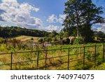 view of a bridge in the... | Shutterstock . vector #740974075