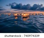 hawaii memorial day lantern... | Shutterstock . vector #740974339