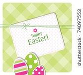 easter eggs   easter background ... | Shutterstock .eps vector #74097553
