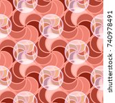 abstract color seamless pattern ... | Shutterstock . vector #740978491
