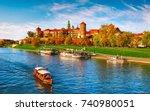 wawel castle famous landmark in ...   Shutterstock . vector #740980051