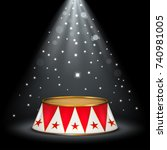 circus stage   Shutterstock .eps vector #740981005