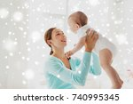 family  child and parenthood... | Shutterstock . vector #740995345