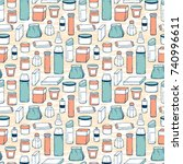 packaging vector background.... | Shutterstock .eps vector #740996611