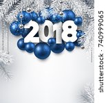 2018 new year background with... | Shutterstock .eps vector #740999065