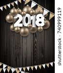 2018 new year background with... | Shutterstock .eps vector #740999119