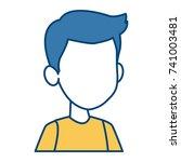 boy faceless cartoon | Shutterstock .eps vector #741003481