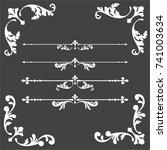 calligraphic design elements | Shutterstock .eps vector #741003634