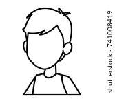 boy faceless cartoon | Shutterstock .eps vector #741008419