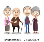 cartoon vector illustration of... | Shutterstock .eps vector #741008875