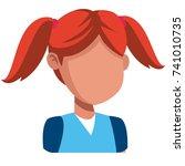girl faceless cartoon | Shutterstock .eps vector #741010735