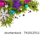christmas. christmas decoration ... | Shutterstock . vector #741012511
