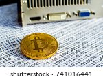 bitcoin on a computer graphic...   Shutterstock . vector #741016441