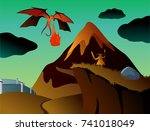 mystical vector art with... | Shutterstock .eps vector #741018049